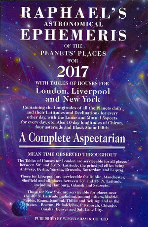 Raphael's astronomical ephemeris of the planet's places for 2017